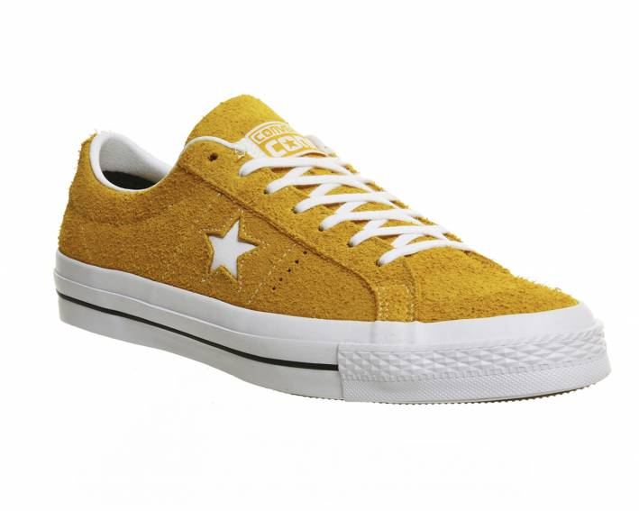 converse one star yellow sneakers