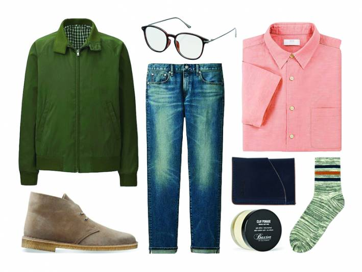 how to wear army green casual outfit