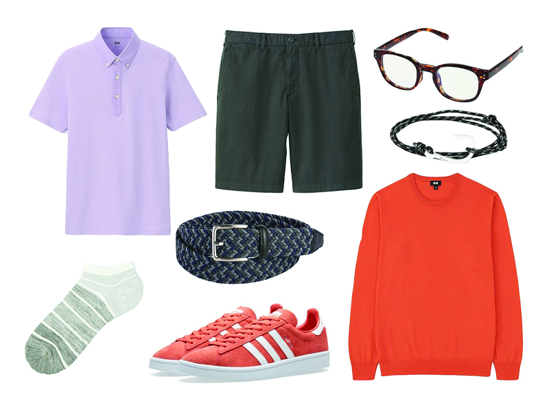how to wear lavender casual outfit