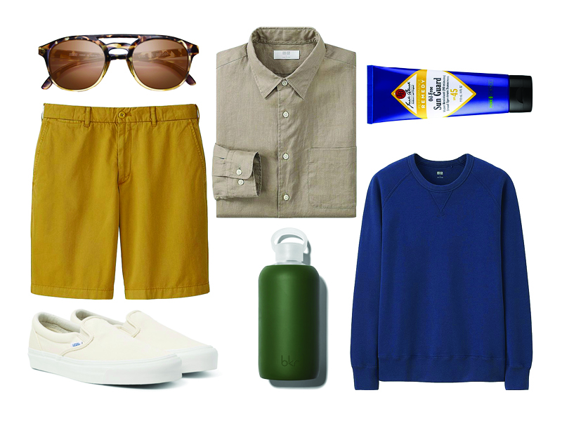 how to wear a linen shirt with shorts