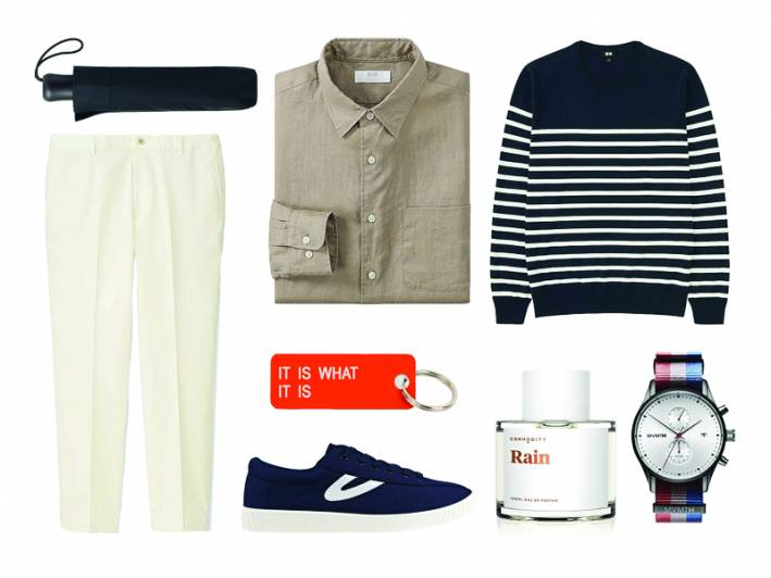 how to wear a linen shirt with a nautical sweater