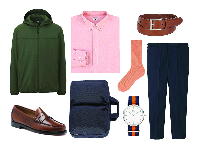 how to wear orange at the office