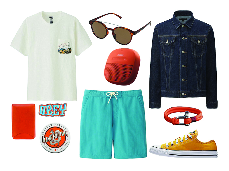 how to wear orange on the weekend