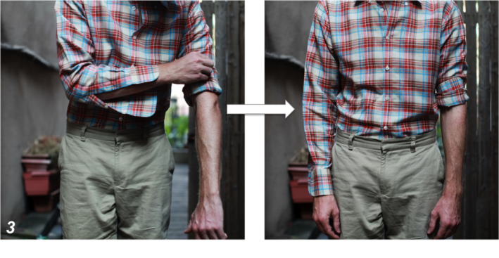 how to roll your shirt sleeves tutorial