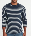 Long-sleeve stripe shirt