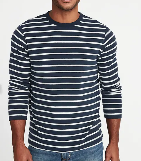 old navy blue white striped shirt