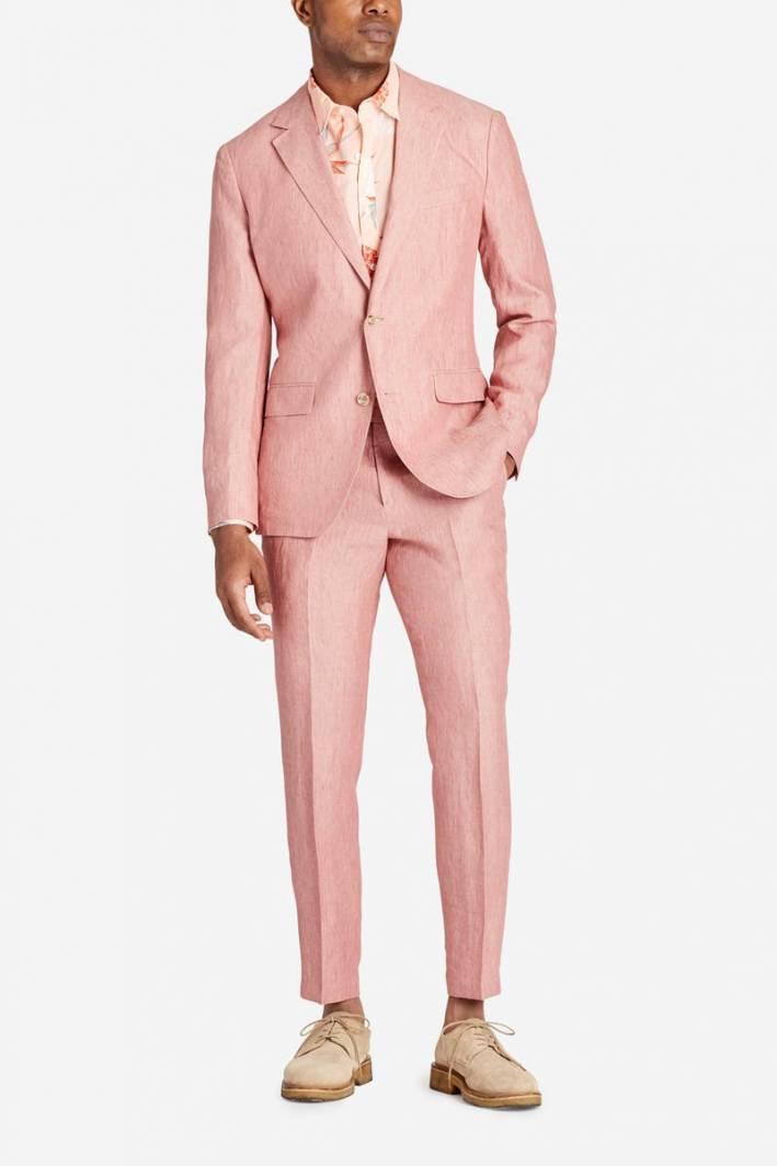 bonobos pink linen suit