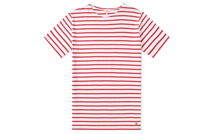 armor lux red breton stripe shirt