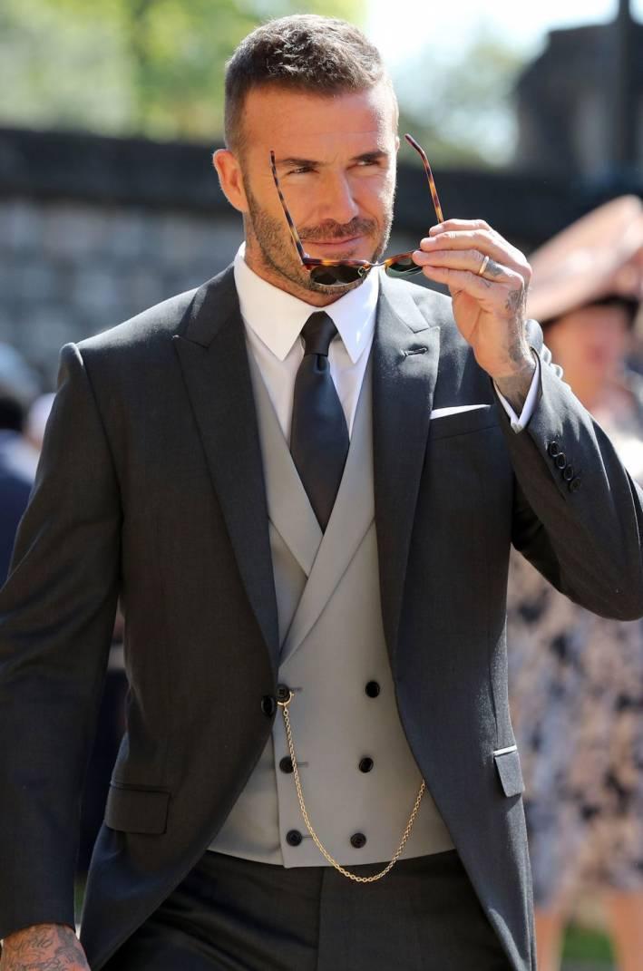 david beckham at royal wedding