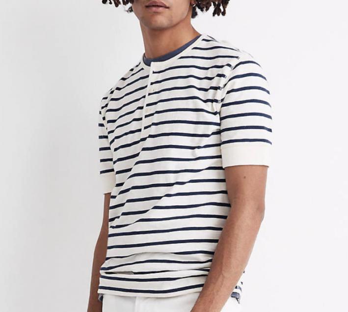 madewell breton stripe shirt for men