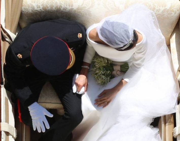 royal wedding overhead picture