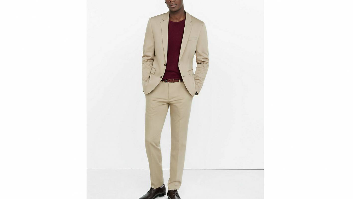 express khaki suit