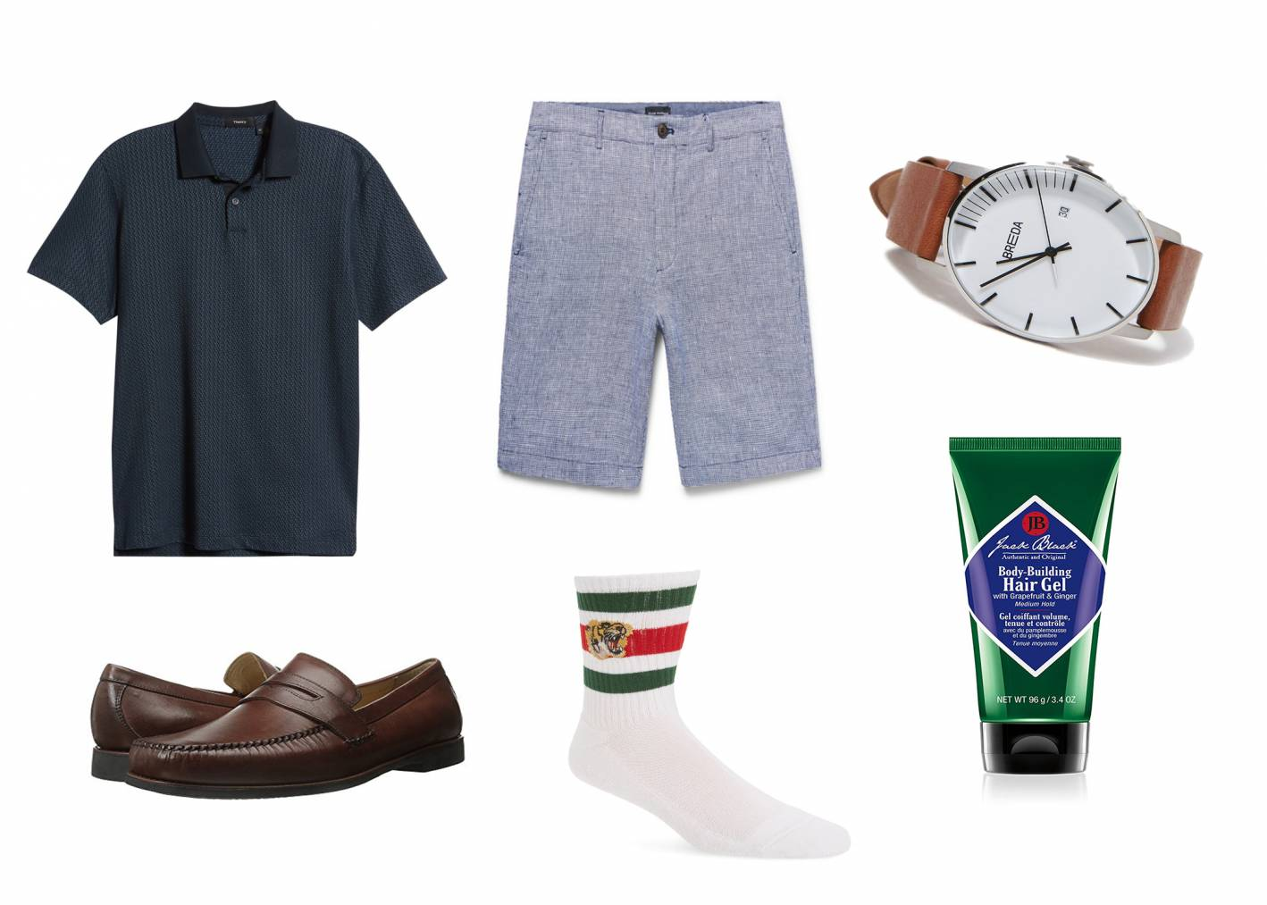casual summer outfit showing how to wear linen shorts