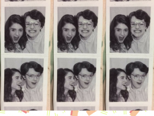 photo booth pictures of barb and nancy from stranger things