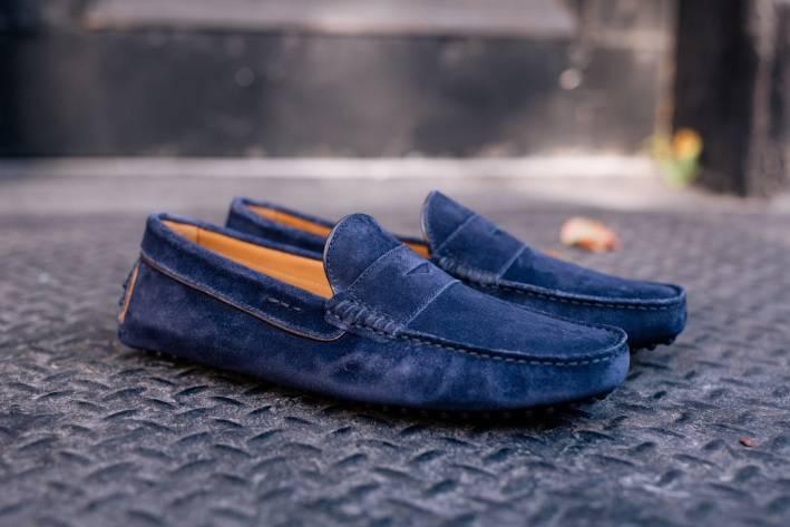 paul evans suede loafer