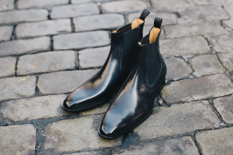paul evans black chelsea boot