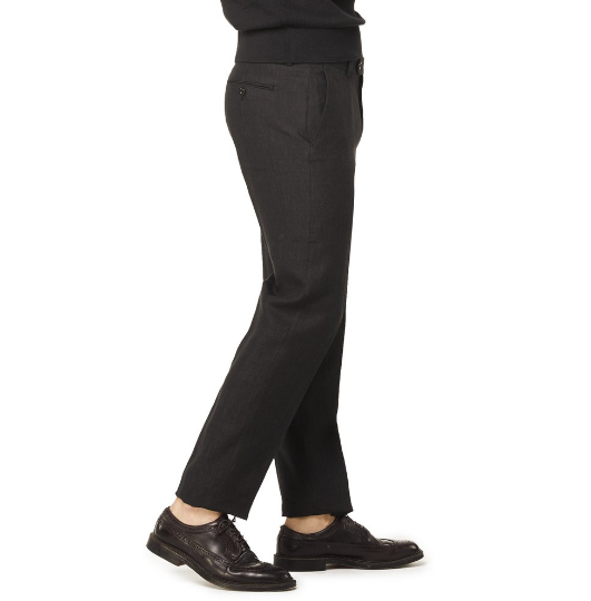 todd snyder black linen trousers