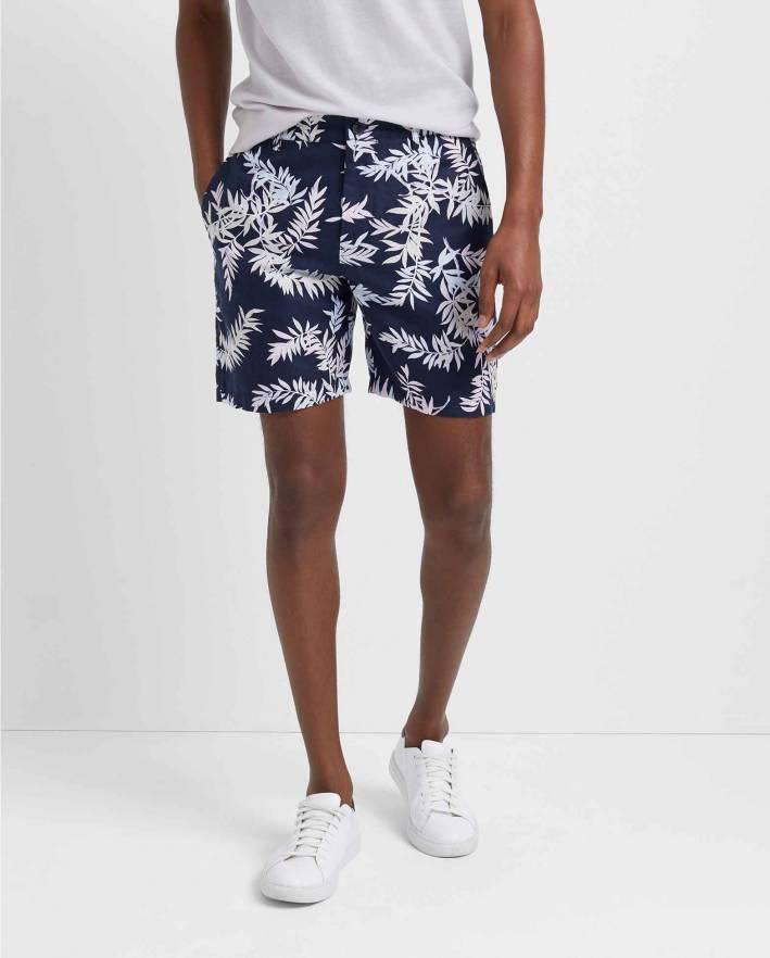 club monaco blue patterned shorts
