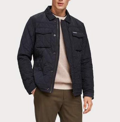 scotch and soda quilted shirt jacket