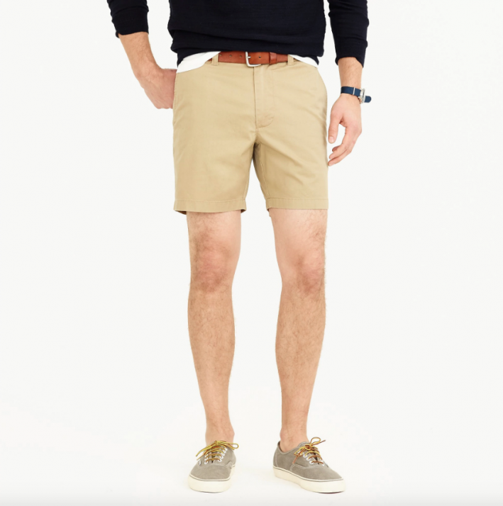 jcrew mens summer khaki shorts 2019