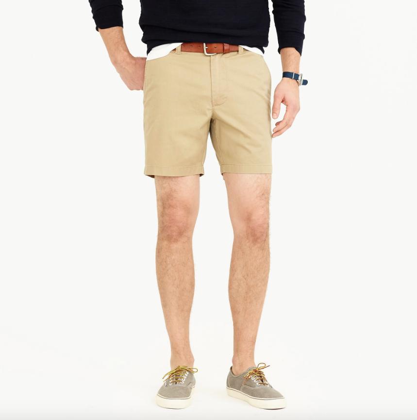 jcrew mens summer khaki shorts 2019