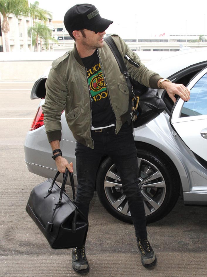 justin theroux black jeans