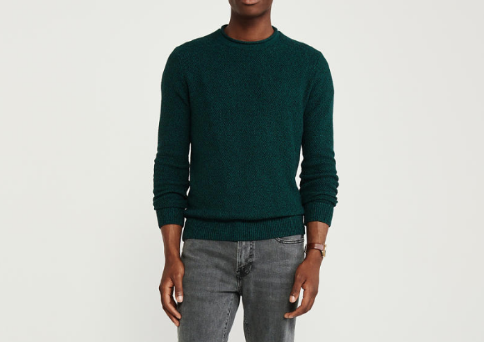 abercrombie dark green rollneck sweater