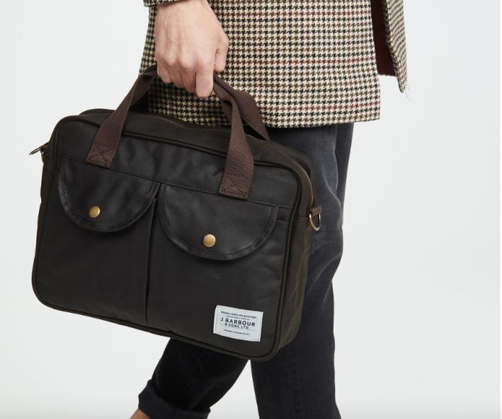 barbour laptop bag