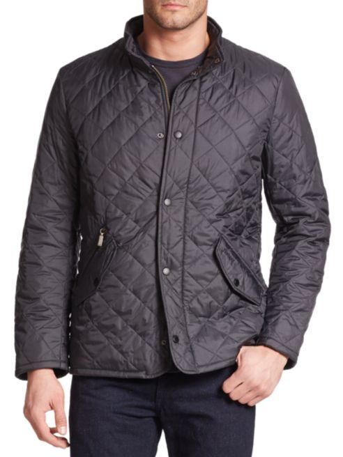 barbour navy quilted jacket