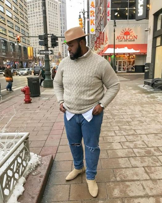 the big fashion guy sweater