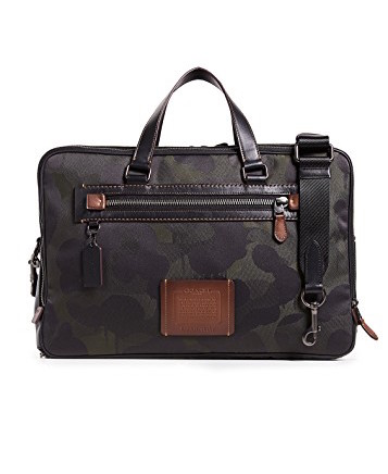 coach camo slim briefcase, best fall bags for men