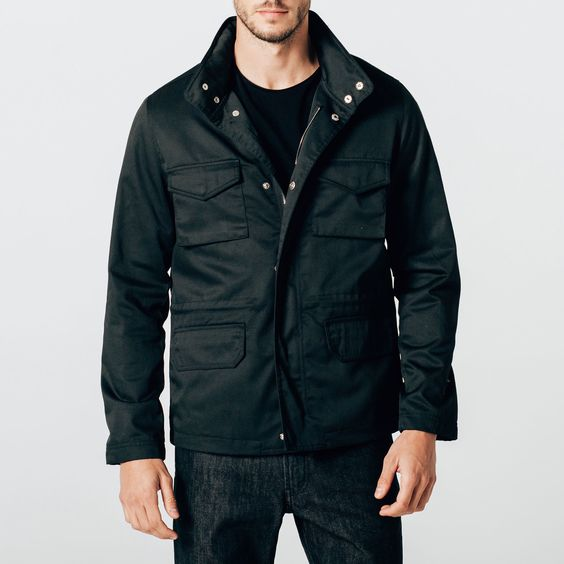 dstld military jacket