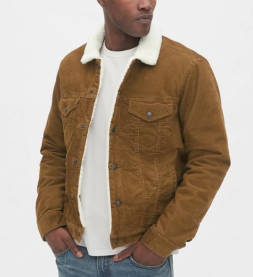 gap shearling corduroy jacket