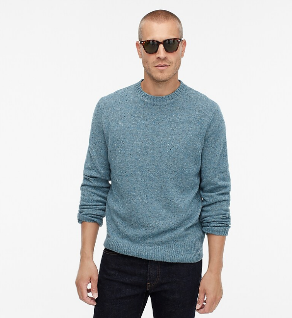 jcrew merino wool donegal sweater