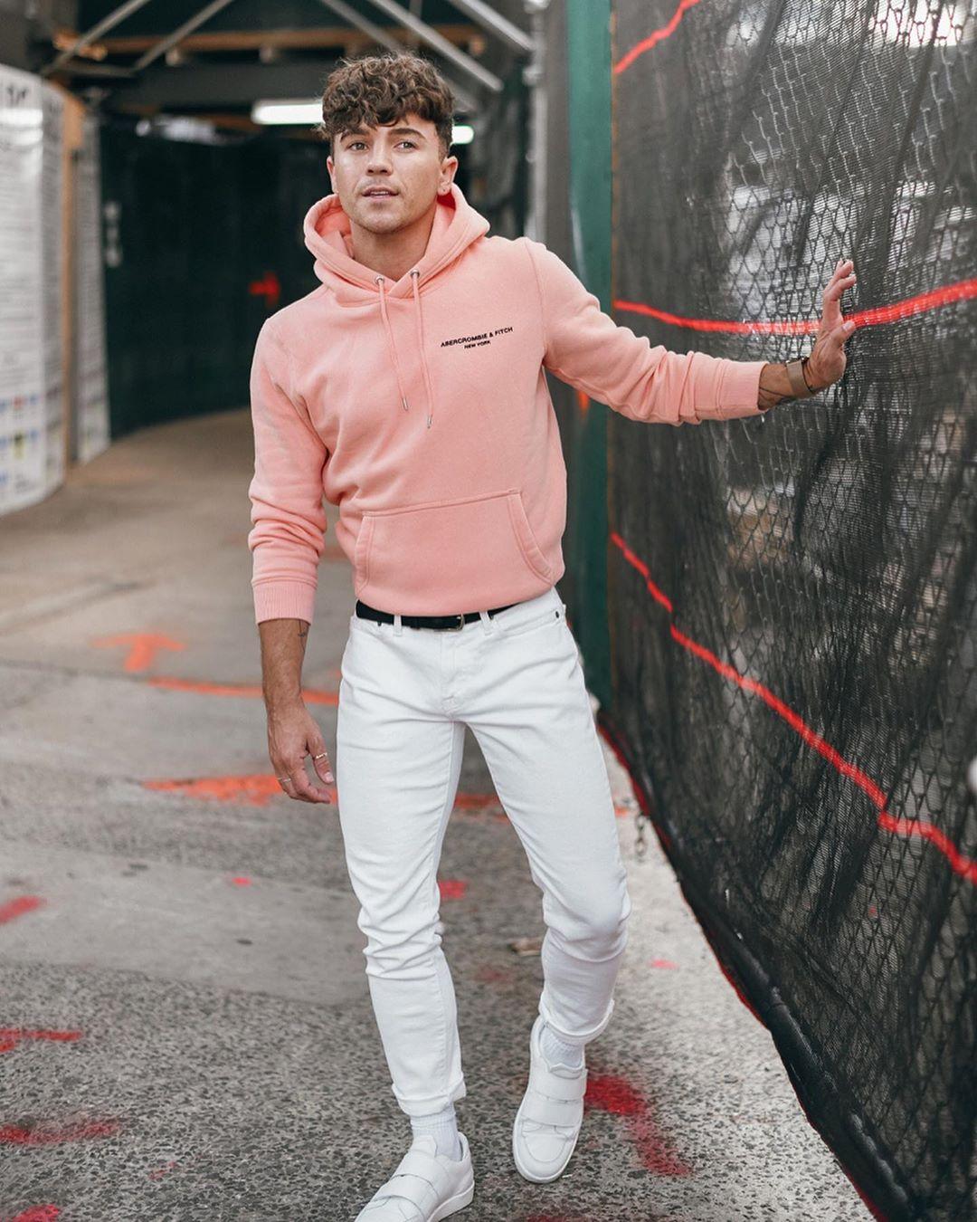 justin livingston scout sixteen millennial pink hoodie