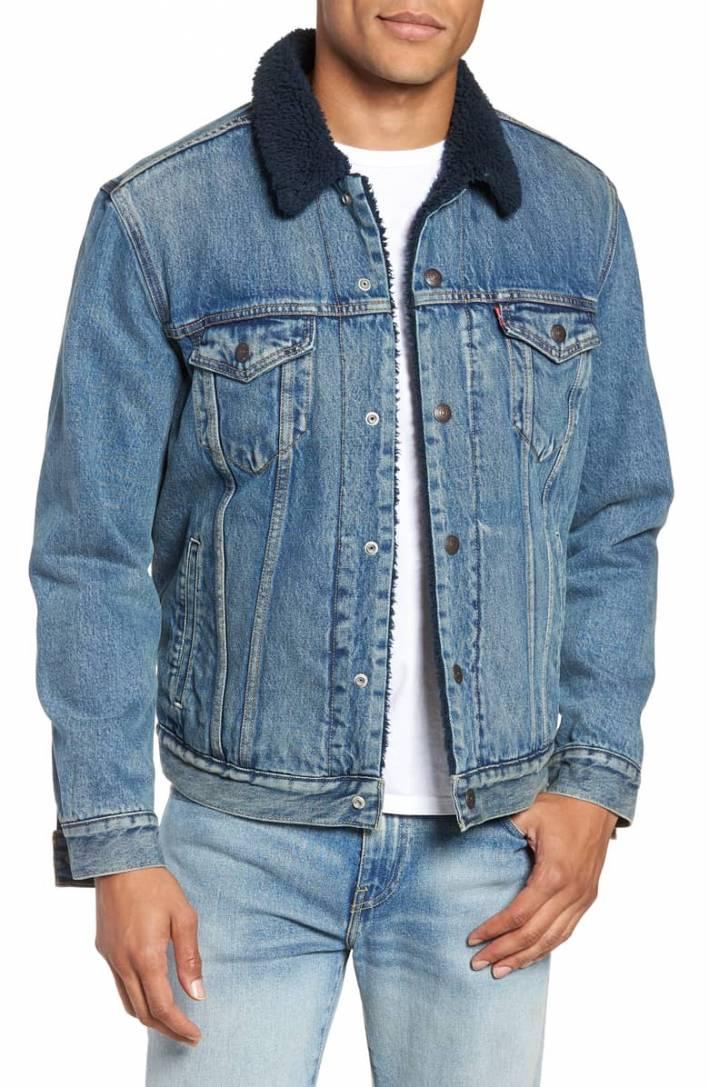 levis shearling collar jean jacket