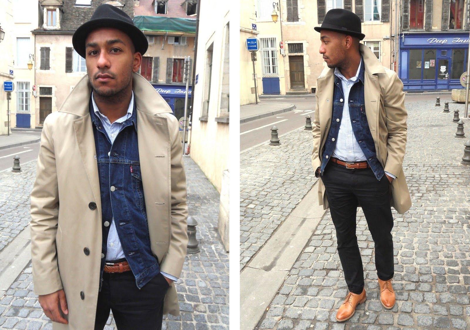 men's denim jacket with dress pants