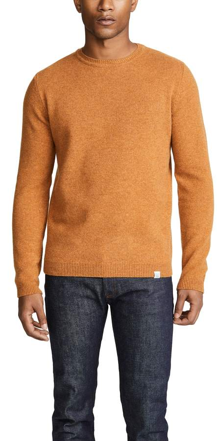 norse projects orange sweater