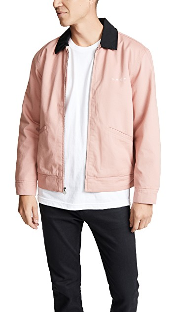 millennial pink obey jacket