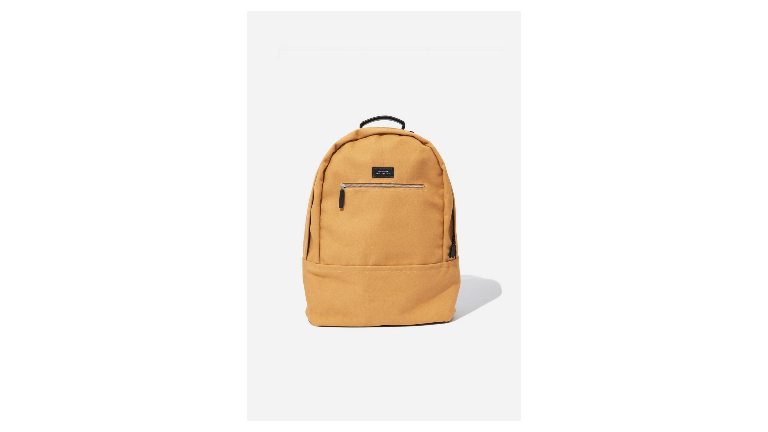 saturdays nyc yellow backpack