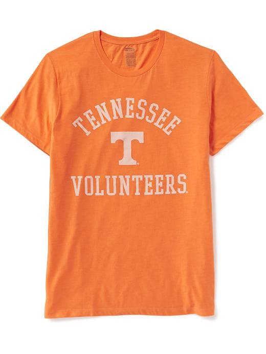 tennessee old navy t-shirt, stylish college sports fan apparel
