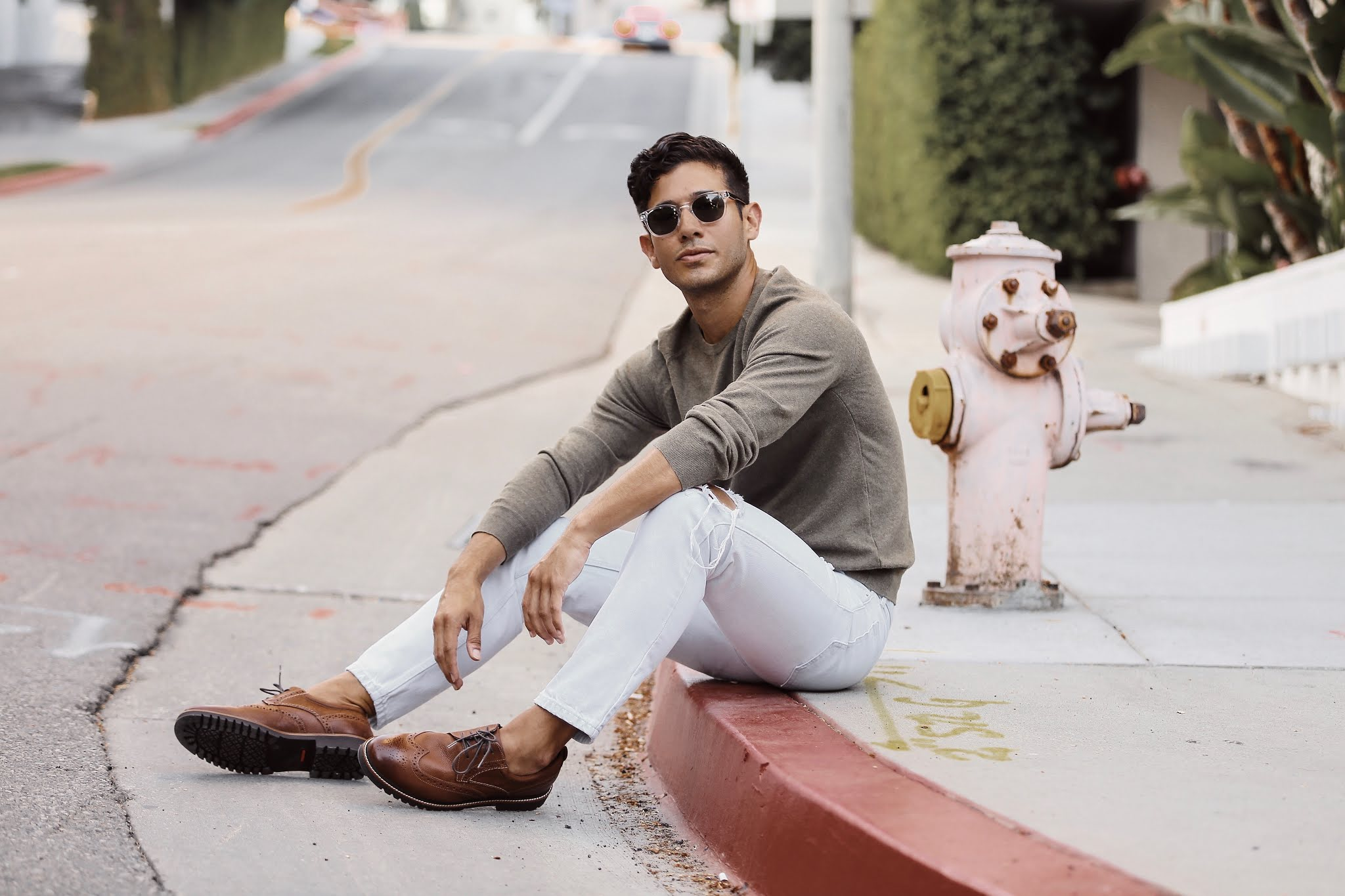 trendstyled white jeans