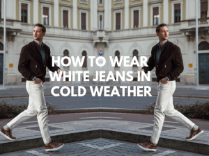 how to wear white jeans in cold weather