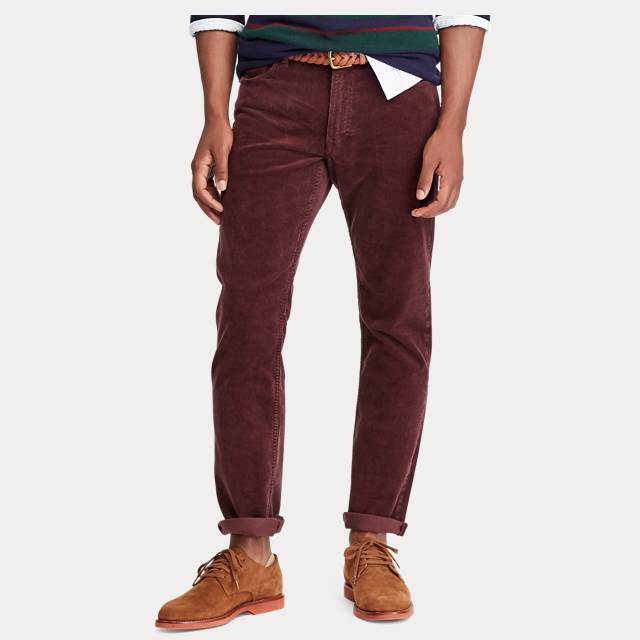 bright color corduroy pants for men