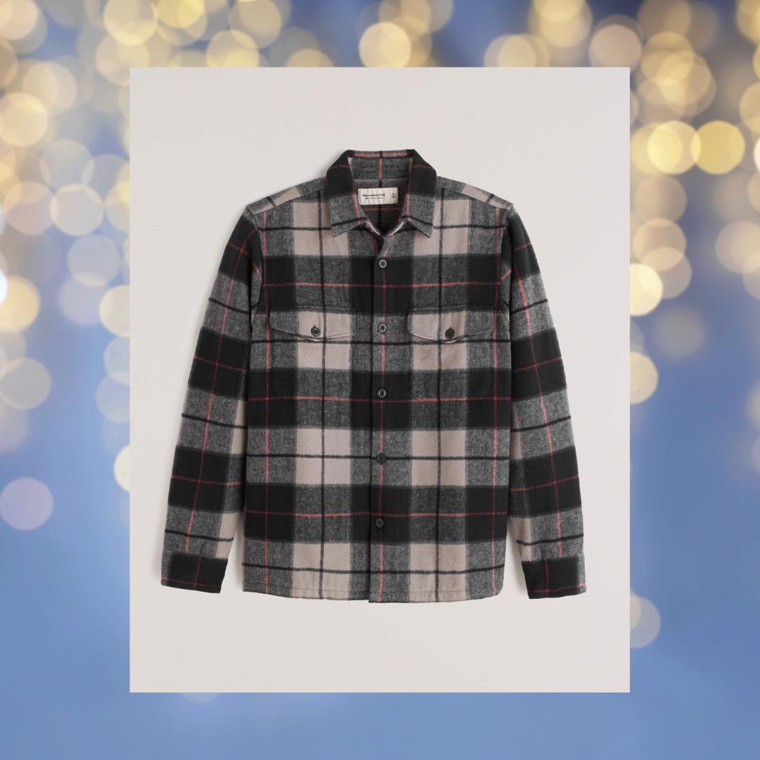 abercrombie & fitch plaid shirt jacket