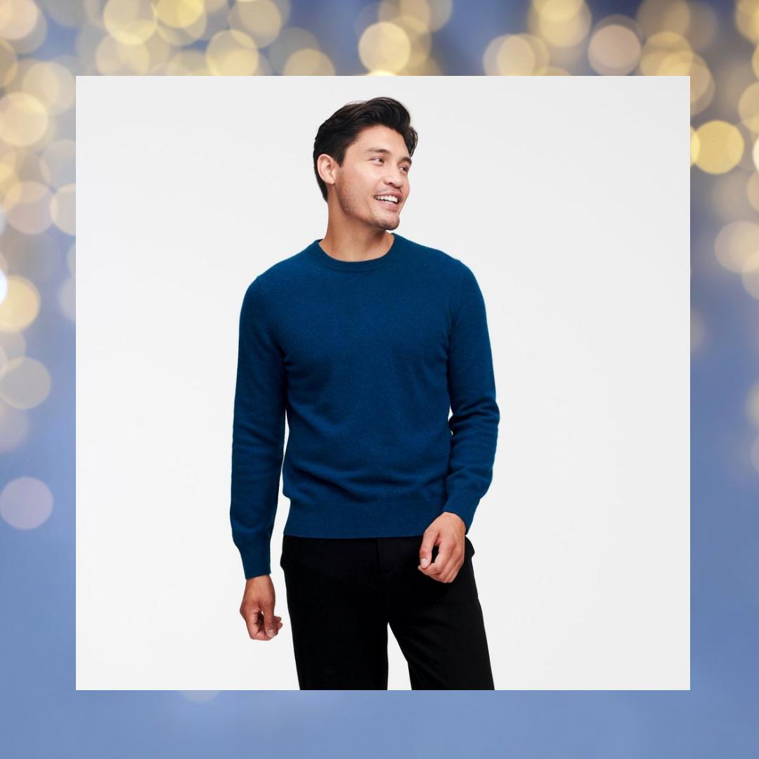 naadam blue cashmere $75 sweater