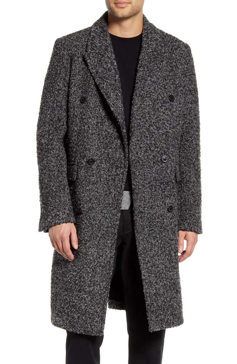 karl lagerfeld double-breasted topcoat