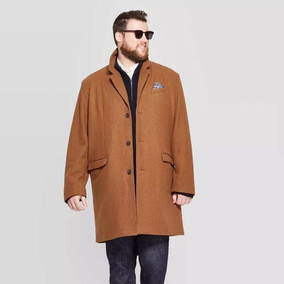 target goodfellow tan topcoat