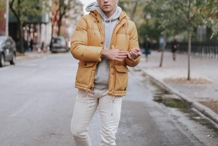 pop of color mens outfit