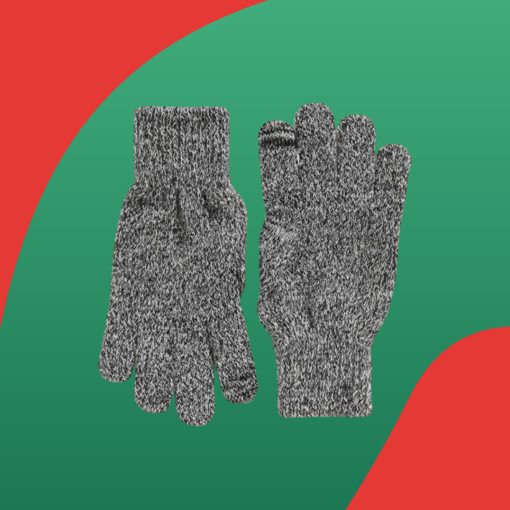 Old Navy marled knit text-friendly gloves
